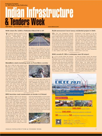 Indian Infrastructure & Tenders Week