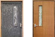 Sleek Boards offers doors that are sound-proof and give 60 minutes of fire containment