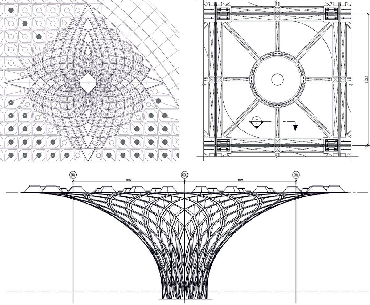 ceiling and column drawing
