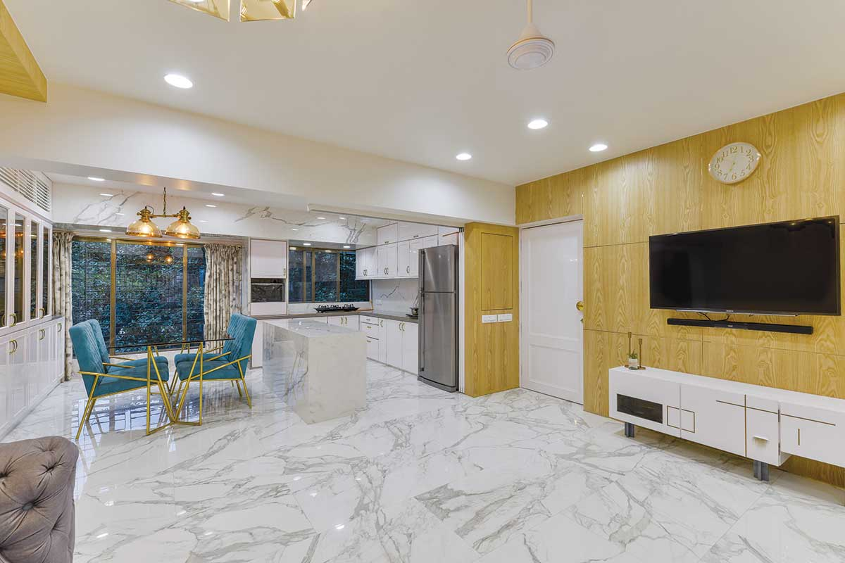 Arjun Rathi Design - Kubadia Residence Rural Modern II - Living Dining Kitchen