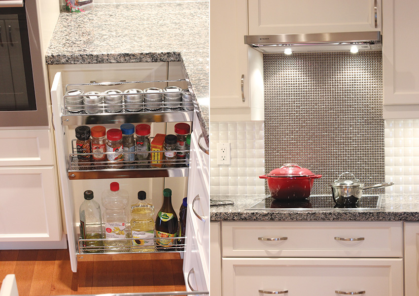 Pullout Spice Storage Induction CookTop