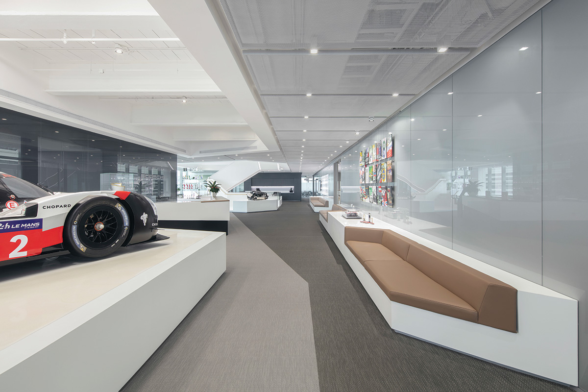 Porsche tasked anySCALE with designing their new China headquarters in Shanghai