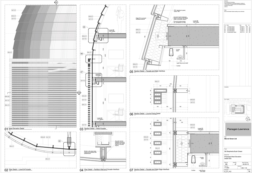 Shepherds Bush Facade Technical Details