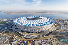 Low & Bonar GmbH, formerly known as Mehler Texnologies, develop special blue coloured membrane for Volgograd Arena