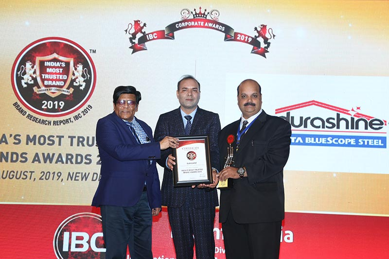 DURASHINE® from Tata BlueScope Steel is India's Most Trusted Brand 2019