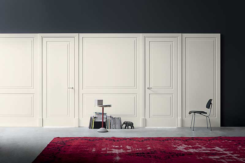 Lualdi matching doors and walls create expanse and fluidity in the space