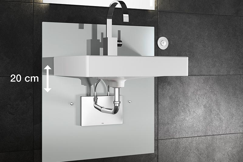 Viega's height-adjustable Eco Plus element for Washstands